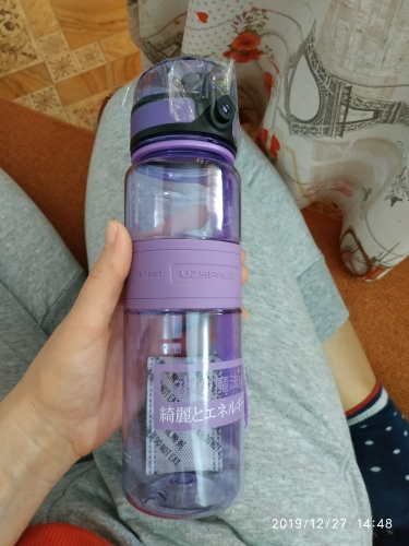 UZSPACE Sports Water Bottles Portable LeakProof Shaker Bottle Fruit Juice Tea Infuser Tritan Plastic Drinkware 500ml/1L BPA Free-in Water Bottles from Home & Garden on AliExpress