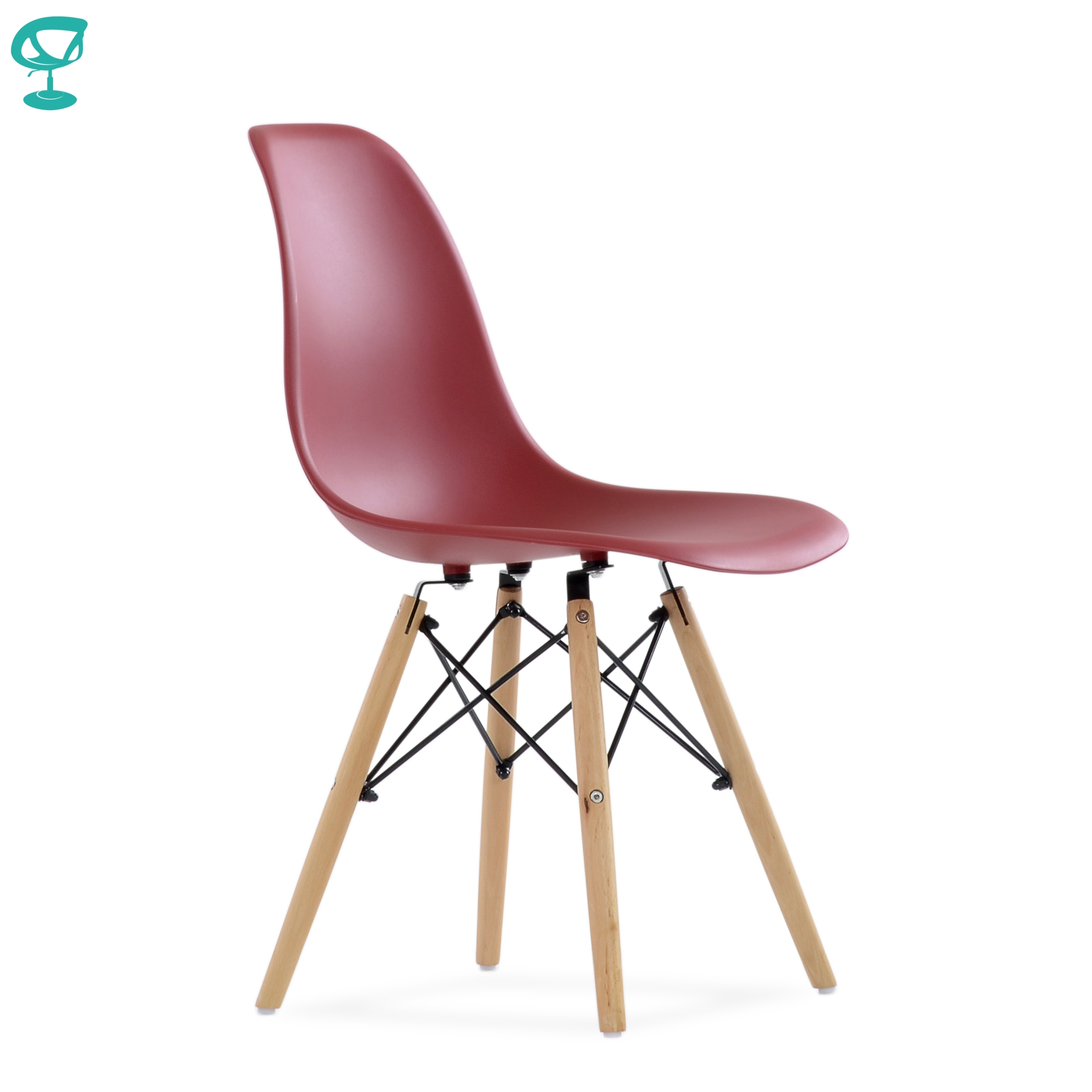 95758 Barneo N-12 Plastic Wood Kitchen Breakfast Interior Stool Chair Kitchen Furniture Bordeaux Color Free Shipping In Russia