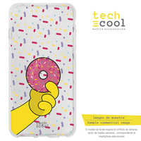 FunnyTech®Silicone Case for Huawei Matte 20 L Design The Simpsons Donut Homer Transp.