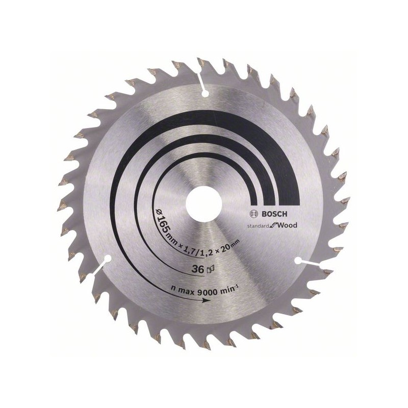 BOSCH-circular Saw Blade Optiline Wood 165x20/16x1,7mm 36