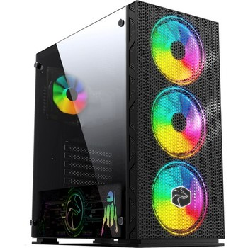 Gametech Glaxy Controlled RGB 3x140mm-1x120mm Fan Player Computer case 1