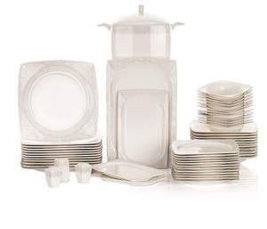 Schafer 60 Pieces Wondel Dining Set White-05