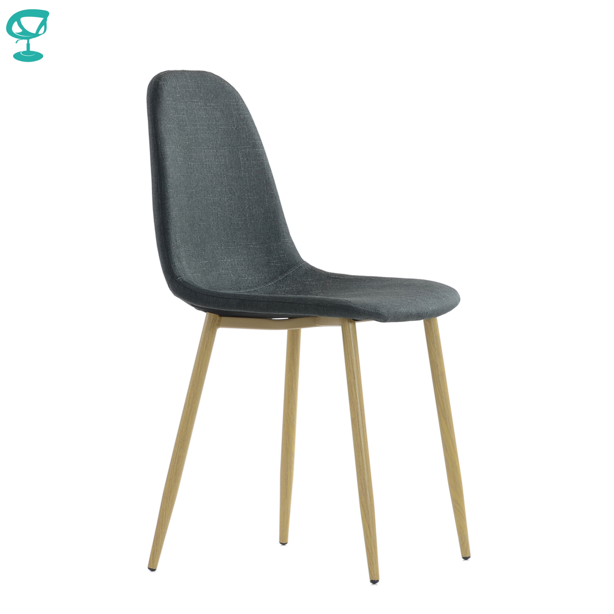 95744 Barneo S-15 Gray Kitchen Chair Legs Metal Seat Fabric Chair For Living Room Chair Dining Table Chair Furniture For Kitchen