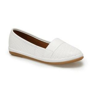 FLO 91. 157201.Z White Women Ballerina Polaris