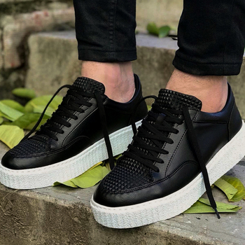 Chekich Men Casual Shoes for Men Sport High Sole Shoes Lace-up Men Sneakers Shoes Comfortable Flexible Fashion Style Leather Wedding Classic Shoes Breathable Walking Running Sneakers Tenis Zapatillas Hombre CH017