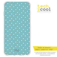 FunnyTech®Stand case Silicone for Vsmart Active 1 plus L Background Sky Blue polka dots
