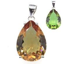 Женский драгоценный камень с зултанитом 27x13 мм 18x13 подвеска