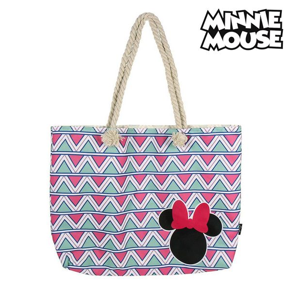 Beach Bag Minnie Mouse 72927 Pink Cotton