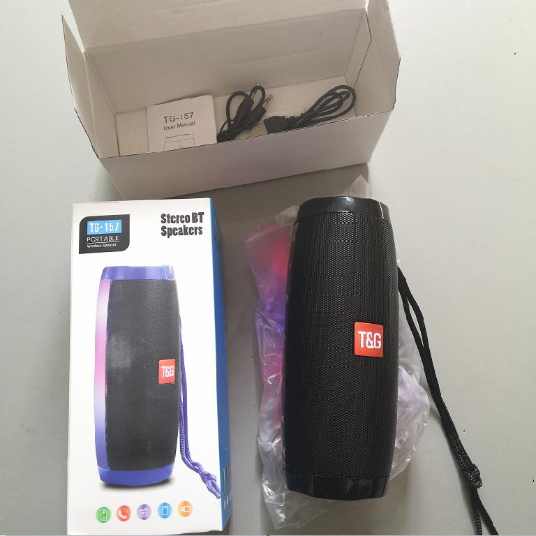 High Quality Portable Waterproof Bluetooth Speaker with LED Light photo review