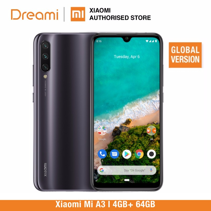 Global Version Xiaomi Mi A3 64GB ROM 4GB RAM (Brand New And Sealed) Mia3 64gb LATEST ARRIVAL