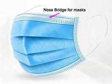 цена на Nose bridge wire 10cm Nose adjuster metal strip flexible plastic coated Nose bridge for mask making