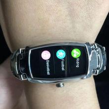 Very stylish smart watch! Feminine style, exquisite steel bracelet, bright color display.