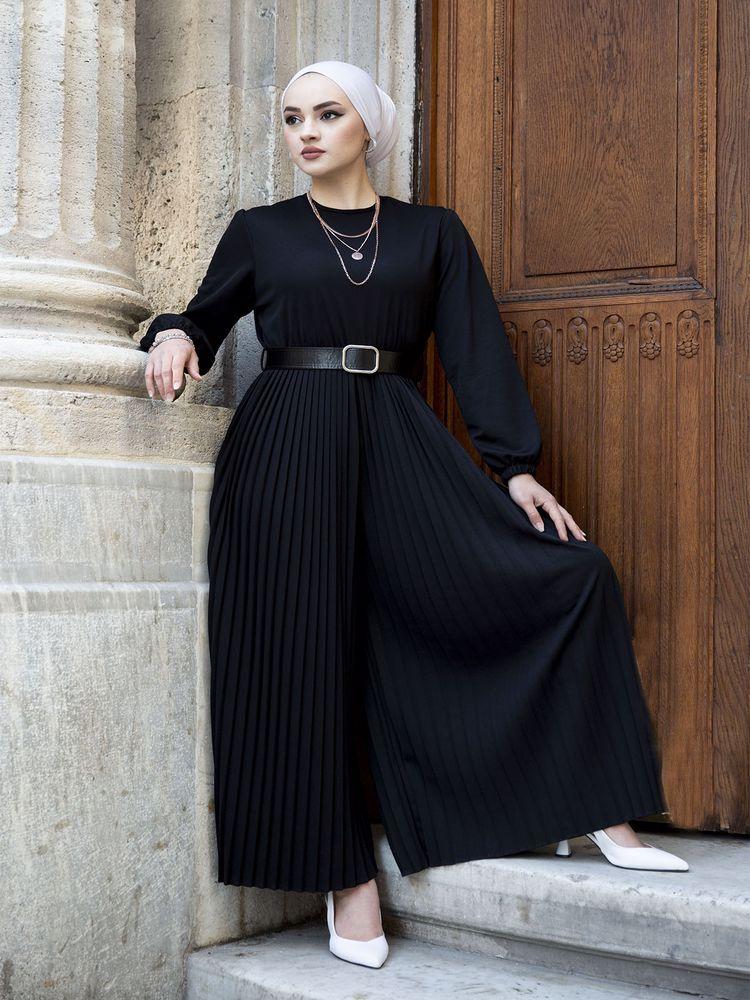 2021 Muslim women long jumpsuit belt dress Ramadan Kaftan Dubai Abaya Turkey Muslim women headscarf dress Islam Kaftan Marocain