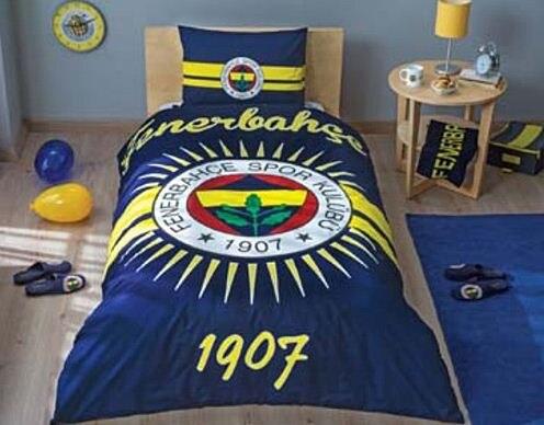 Fb gs bjk nevresim takımı moda spor yorgan kapak yastık kılıfı kral kraliçe tam yapılan ın türkiye
