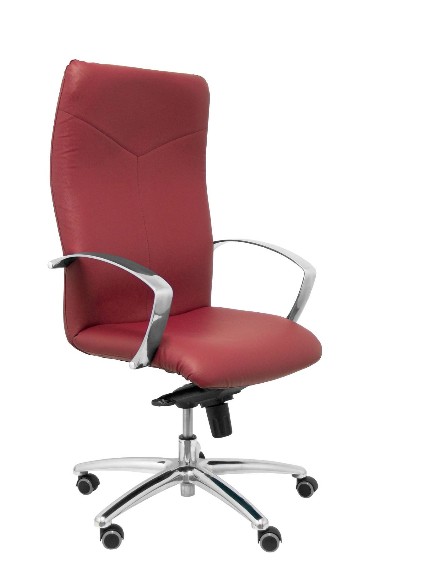 Armchair Ergonomic Steering With Tilting House Mechanism And Dimmable In High Altitude-up Seat And Backstop Upholstered In Simil