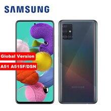 Оригинальный разблокированный сотовый телефон Samsung Galaxy A51, Восьмиядерный, экран 6,5 дюйма, 4 Гб ОЗУ 128 Гб ПЗУ, четыре задние камеры 48 МП, на базе ...