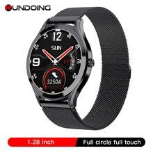 RUNDOING – montre connectée MK10 pour hommes et femmes, écran tactile rond, corps en alliage de Zinc, fonction pression artérielle