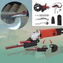 Шлифовальный станок Мини DIY шлифовальной ленты адаптер Bandfile ленточно-шлифовальный станок для 4 ''электрическая угловая шлифовальная машина с M10 ходового винта