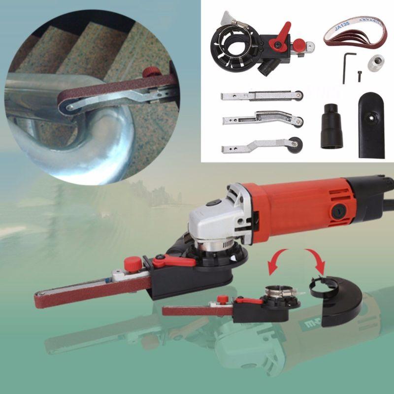 Sander Mini DIY Sanding Belt Adapter Bandfile Belt Sander For 4 '' Electric Angle Grinders With M10 Threaded Spindle