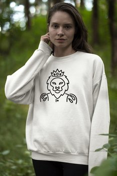 Angemiel Wear Lineal King Lion Women Sweatshirts image