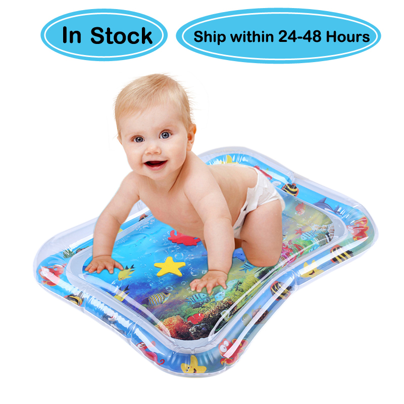 Support Dropshipping Baby Kids Water Play Mat Inflatable Infant Tummy Time Playmat Toddler for Baby Fun Activity Play Center|Baby Gyms & Playmats|   - AliExpress