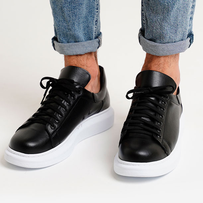 Chekich 2020 New Leather Men Sneakers Casual Shoes Men Leather Flat Shoes Lace-up Low Top Sneakers Comfortable Fashion Style Wedding Classic Shoes Breathable Tenis Masculino CH257