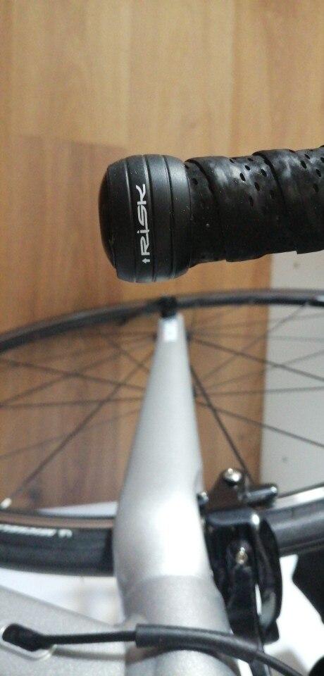 1 par de tapones de silicona para manillar de bicicleta de carretera