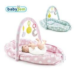 Babyjem Of Baby Bed Met Speelgoed, Roze Kleur, Voor Pasgeborenen En Baby 'S, Katoen Gevoerde Edge Protectors