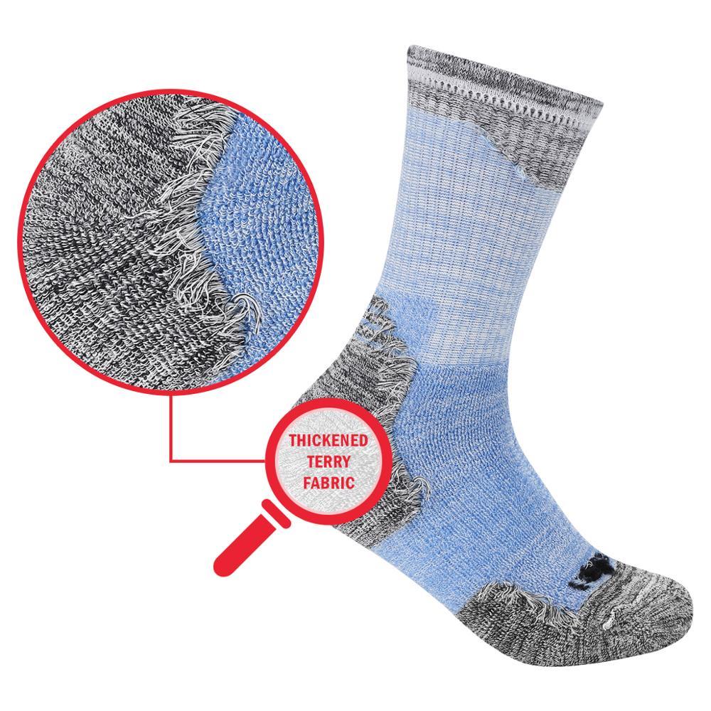 Image 3 - YUEDGE Brand Women's Cushioued Cotton Crew Socks Comfort Breathable Casual Women's Socks( 5 Pairs/Pack)-in Socks from Underwear & Sleepwears