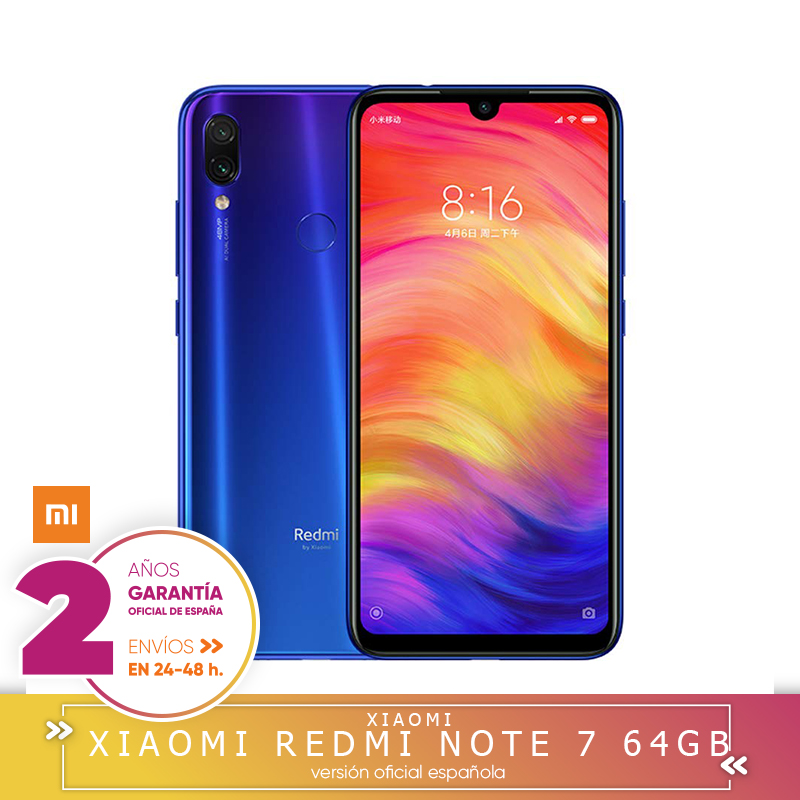 [Version officielle espagnole] Xiaomi Note Redmi 7 Smartphone, écran HD + 6,3