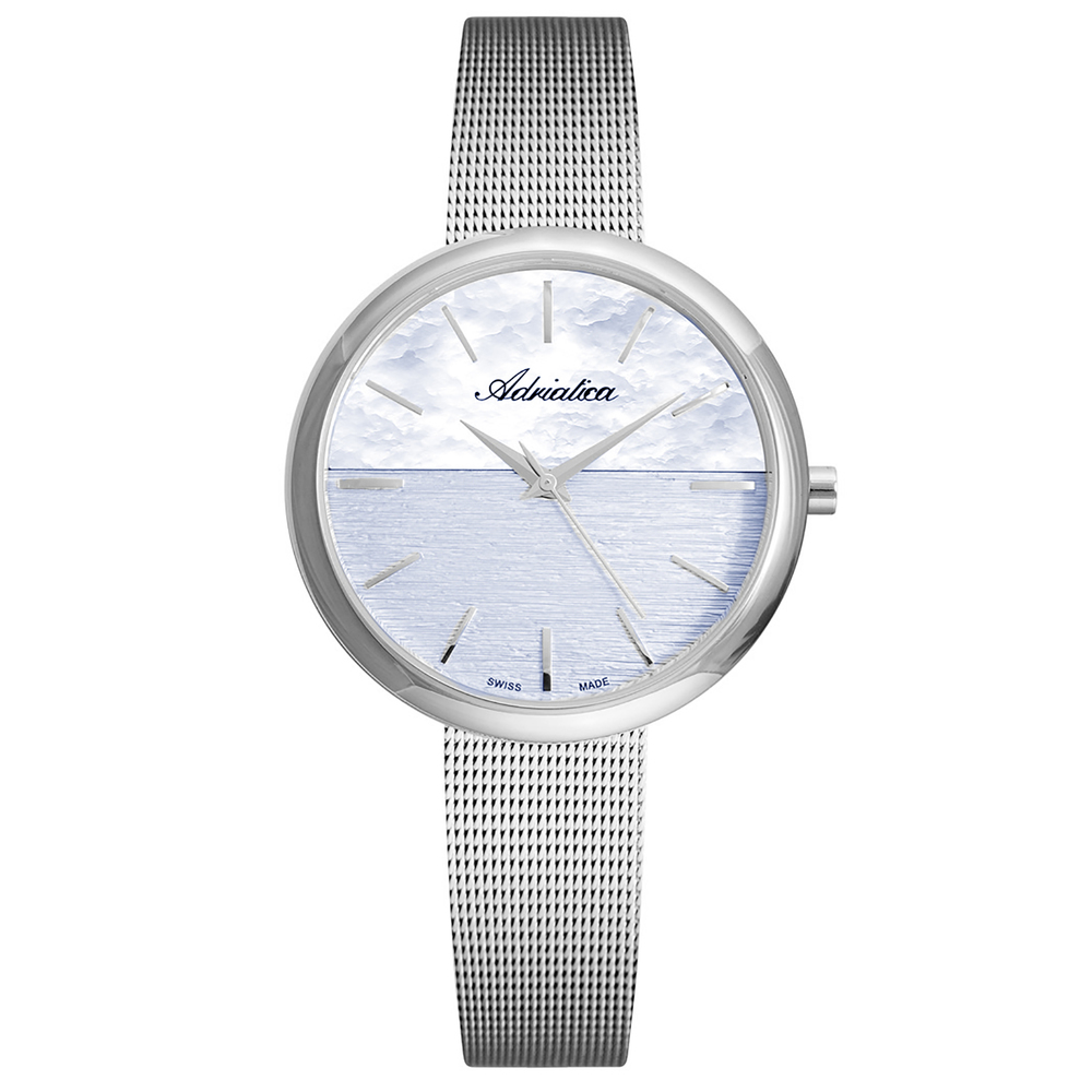 Women's Watches On A Steel Bracelet With Mineral Glass Sunlight