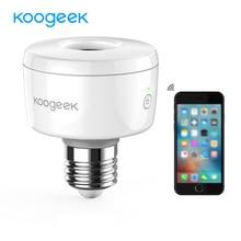Koogeek E26 Presa Intelligente Wifi Lampadina Adattatore Lampada Intelligente Siri Intelligente di Controllo A Distanza di Voce per Apple HomeKit [Solo per IOS]
