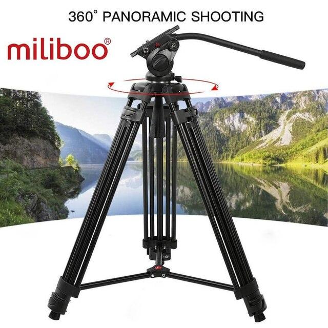 حامل ثلاثي للفيديو محمول احترافي من الألومنيوم من miliboo مع رأس هيدروليكي كاميرا رقمية DSLR حامل ثلاثي القوائم أفضل من manfrotto