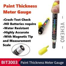 Авто Lak test BIT 3003 тестер толщины краски автомобиля er метр Манометр краш тест лак тест er с магнитным наконечником шкала показывает