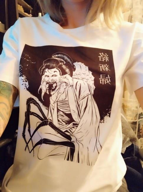 Jorogumo Japan Japanese Anime Manga Horror Guro Gothic Spider Woman Junji Ito Maruo T Shirt Tee Men T Shirt photo review