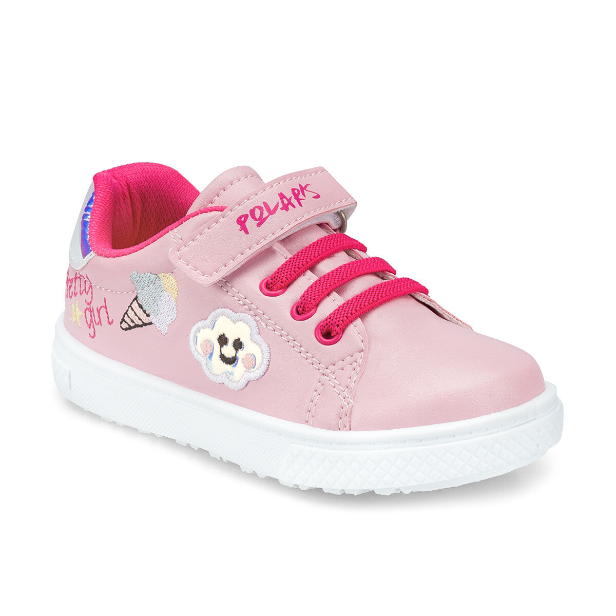 FLO 512288.P Pink Female Child Sneaker Shoes Polaris