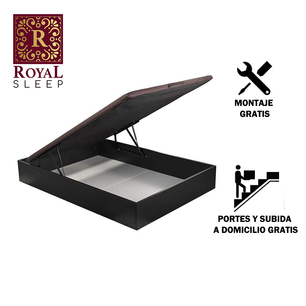 Royal Sleep Bed Folding Wood's 135x182 Color Wenge Mount Shipping And Large Capacity Furniture Bedrooms Home Comfort