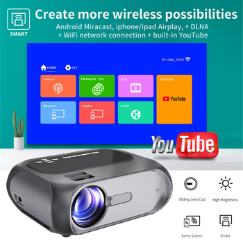 UNIC Newest 720p Portable LED Projector 4.3 Inch Independent Speaker HDMI USB Home Theater Video Game Handheld Projector Beamer