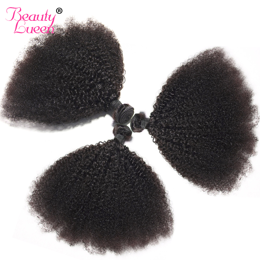 Afro Kinky Curly Weave Human Hair Bundles Natural Black 4 Bundles Brazilian Hair Weave Bundles 8-22