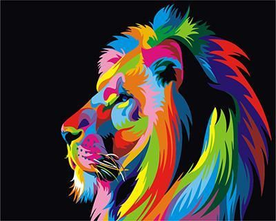 Painting By Numbers GX 3973 King Of Beasts 40*50