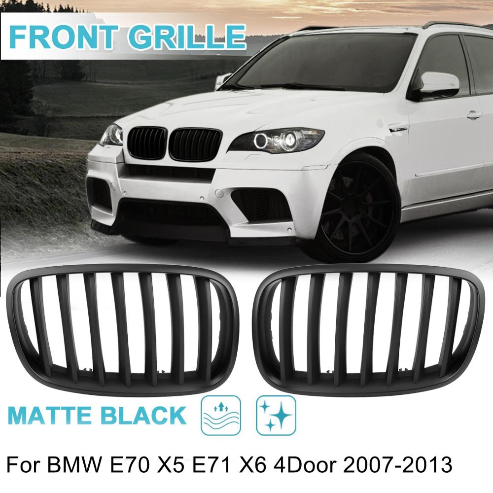 UXCELL 2pcs Matte Front Left & Right Hood Kidney Racing Grille Grill Cover for BMW E70 X5 E71 X6 E46 E90 5 Series F30 F10 97-16