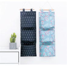 Printed Style Storage Bag Multifunction Cosmetic Organizer Oxford Sundries Pouch Wardrobe Hanging