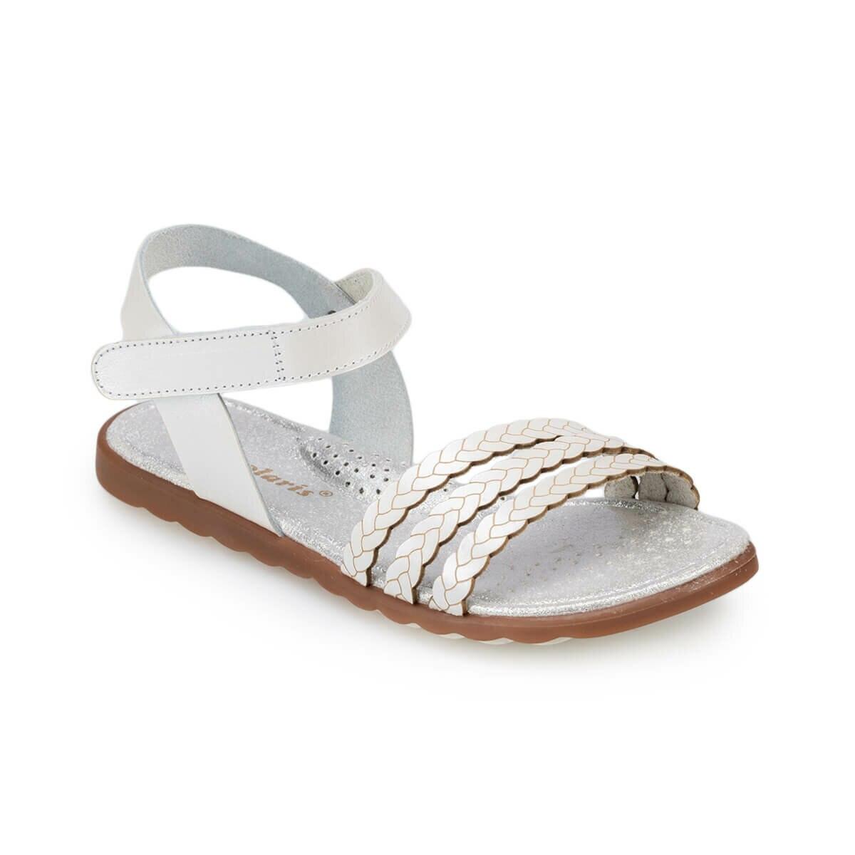 FLO 91.511351.F White Female Child Sandals Polaris