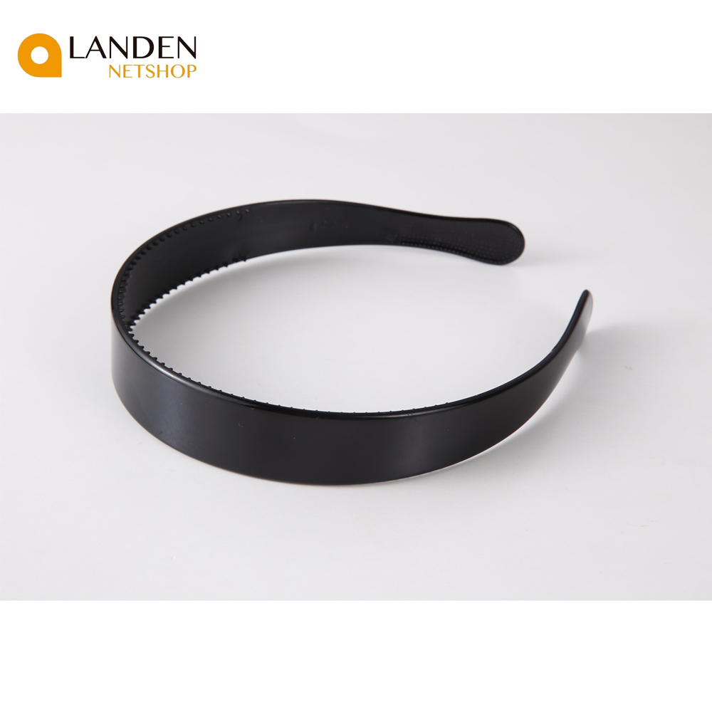 2.5cm Black Wide Ribbon Plastic Head Of Cam Buckle With Teeth Headband Women Girls Hair Accessories