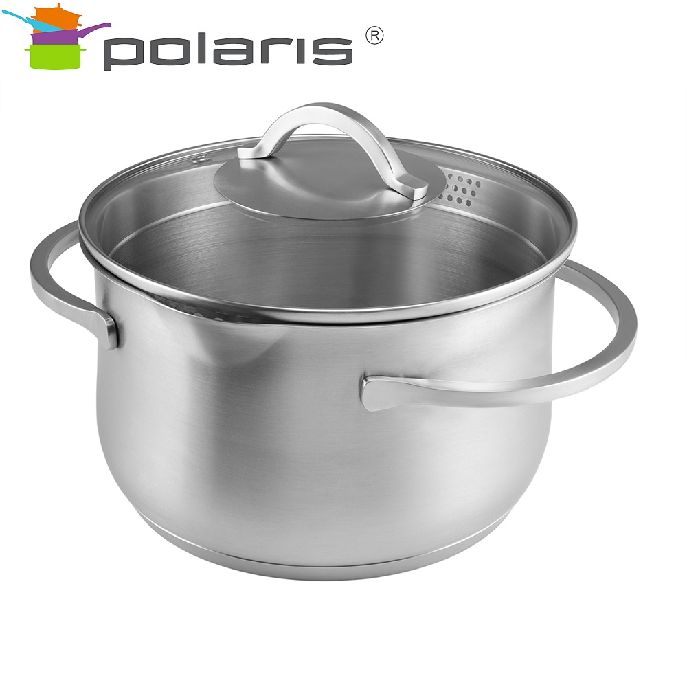 Saucepan with lid Polaris Solid-20C Kitchen Pans Set of pans Induction pots Stainless steel pots Steel cookware Induction cookware Non-stick pan Pan with lid все цены