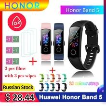 グローバルバージョンhuawei社の名誉バンド5スマートブレスレットwisbandよりもバンド4ハートレート酸素スマートバンド防水スマート時計