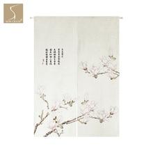 Весеннее цветущее дерево Цветущая Розовая орхидея японская норенская занавеска для дома, ресторана, двери, кухни, дверной проем, разделитель