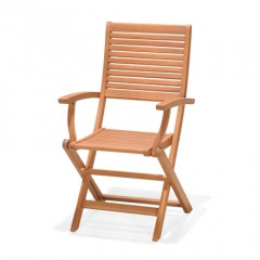 Kingsbury-Folding Garden Chair With Arms-50021001156504