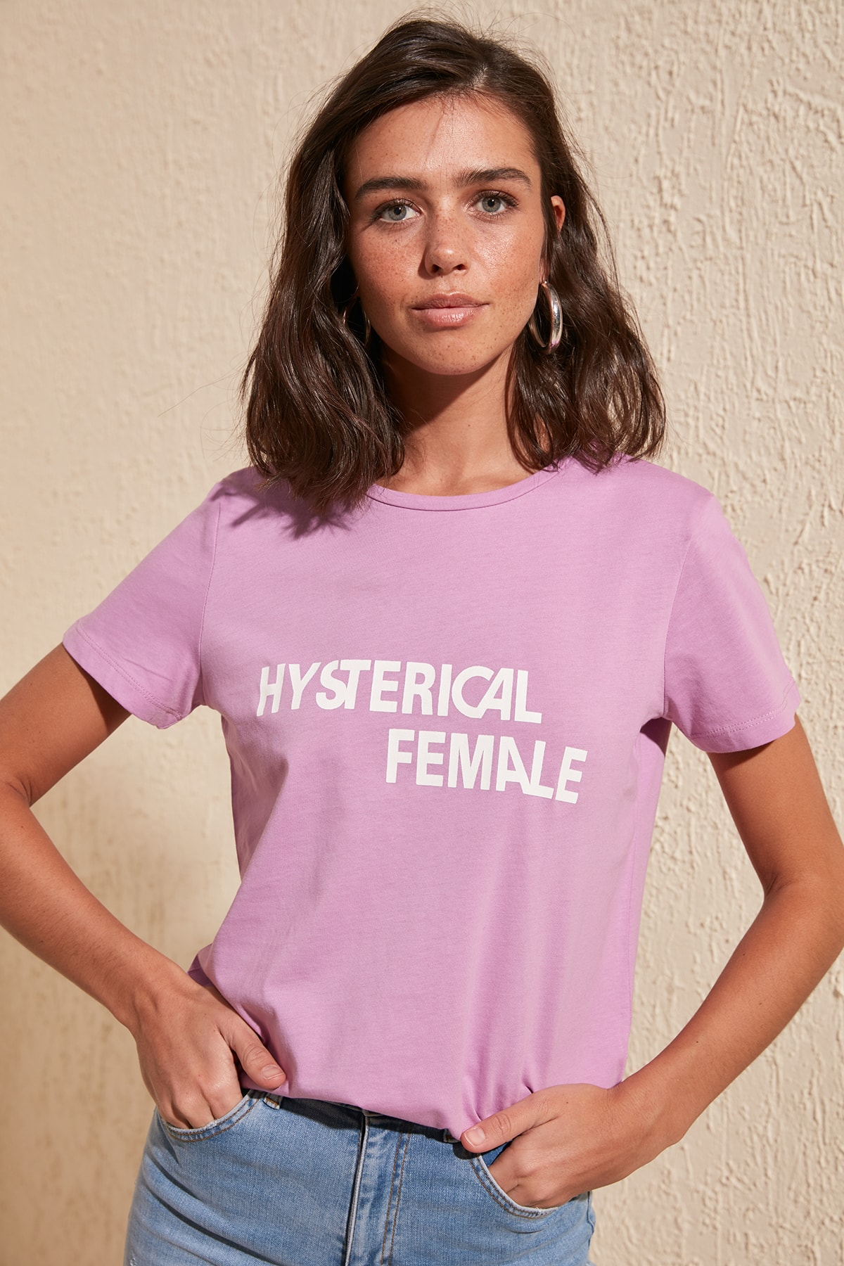 Trendyol Printed Basic Knitted T-Shirt TWOSS20TS0421
