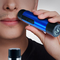 electric shaver for men razor Summer travel epilator Dry battery drive Man remove hair tool Legs  body SU380 1